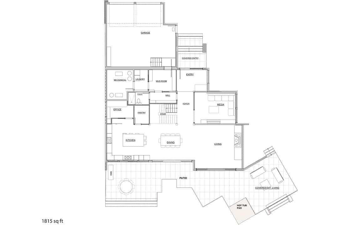 Entertainers Dream Main floor plan