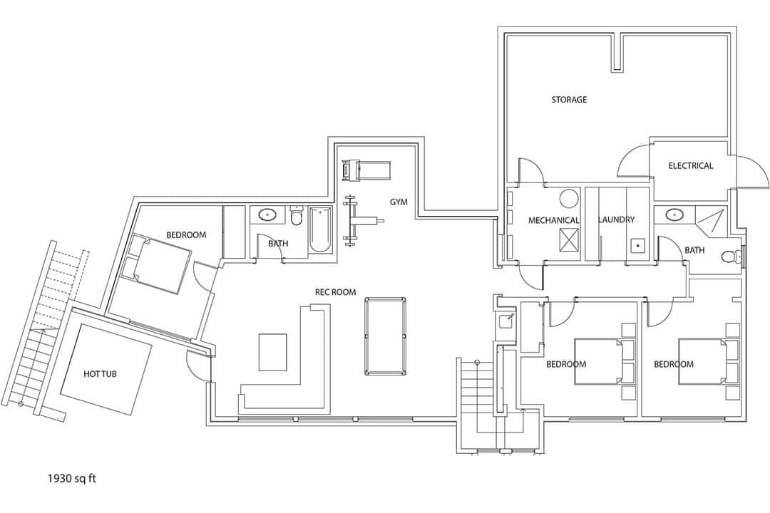TM Builders Panoramic Whistler Lower floor plan